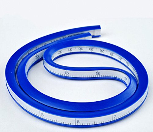 WellieSTR 24 Inch (60cm) Flexible Curve Ruler for designers and pattern makers easy to use accurateWellieSTR