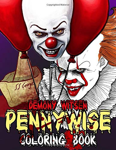 Pennywise Coloring Book: Adult Stephen King Books with Fun, Easy, Relaxing Coloring Pages