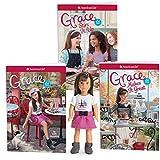 American Girl Grace 6-Inch Mini Doll & Three Book Set for Girls