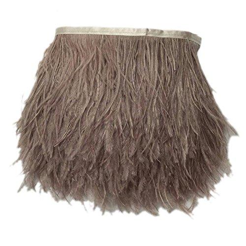 KOLIGHT - Paquete de 4,5 metros de plumas de avestruz teñidas naturales, de 9 a 12 cm, para decorar...
