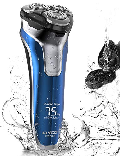 Electric Razor for Men, FLYCO Wet & Dry Electric Rotary Shaver Mens Beard