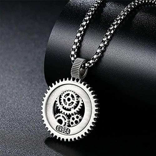 AMOZ Viking Axenecklace Withvalknut, Valknut Symbol Colgante de Hacha de Acero Inoxidable Odin Hammer Pagan,Tomahawk 2