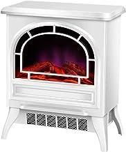 Calentador eléctrico de chimenea, Estufa de chimenea independiente con efecto de llama realista, Calentador eléctrico portátil de 2000 W, Marco de metal blanco, Calentador espacial,A,RemoteControl