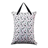 ALVABABY Large Wet Dry Bag Waterproof Hanging Cloth Diaper with Double Zippered...