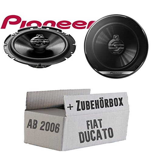 Lautsprecher Boxen Pioneer TS-G1730F - 16cm 3-Wege Koax Paar PKW 300WATT Koaxiallautsprecher Auto Einbausatz - Einbauset für FIAT Ducato 3 250 Front - JUST SOUND best choice for caraudio