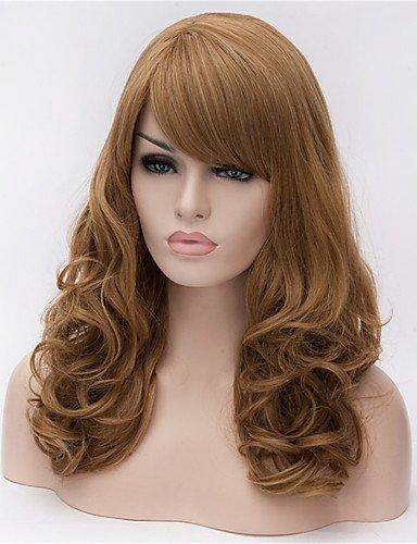 jiayy Europe et les États-Unis Grand Volume de lin perruque marron de 22 pouces de long poil frisé 22\