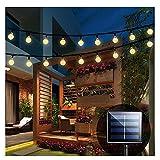 iihome Solar Garden Lights, 60 LED 36ft Waterproof...