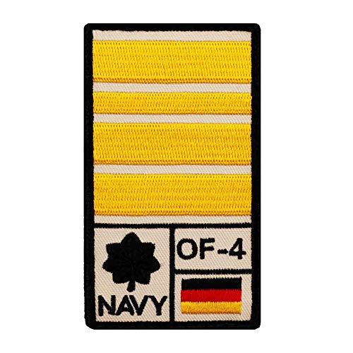 Café Viereck ® Fregattenkapitän Marine Bundeswehr Rank Patch mit Dienstgrad - Gestickt mit Klett – 9,8 cm x 5,6 cm