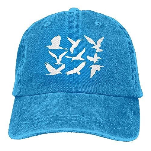 Gorra de béisbol Hombres y Mujeres, pájaros Animales 1-1 Unisex Algodón Ajustable Denim Cap Hat