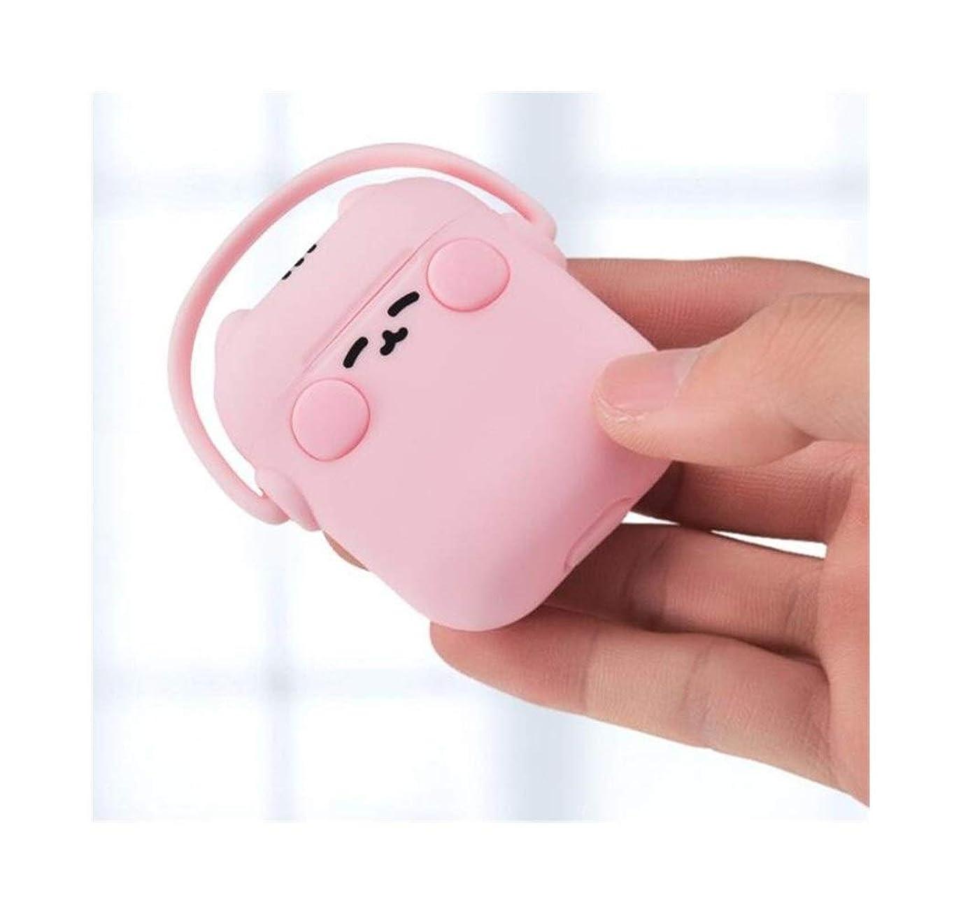 奪うアレンジすることになっているKaiyitong ヘッドフォンセット、Airpods保護カバーAirpods2ユニバーサル漫画女性液体シリコーンイヤホンカバー - 特別な赤 かっこいいかわいい (Color : Pink)