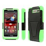 Empire Mpero Collection Tough Kickstand Case for Motorola Droid Razr M XT907 - Black/Neon Green