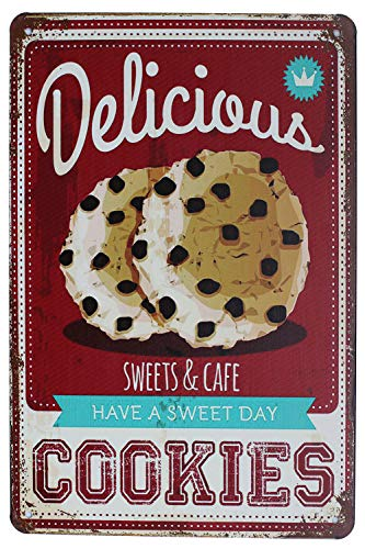 SUMIK Delicious Cookies, Metal Tin Sign, Vintage Art Poster Plaque Kitchen Home Wall Decor