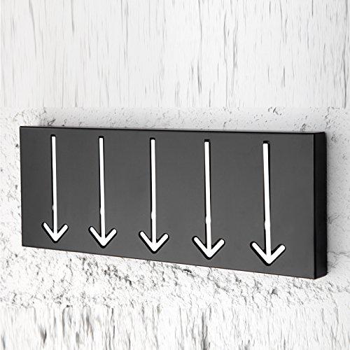 DESIGN DELIGHTS FANCY WARDROBE POINTER kapstok met 5 haken zwart van Xtradefactory