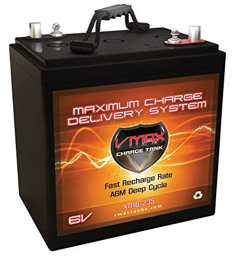VMAX XTR6-235 6 Volt 235Ah Group GC2 AGM Deep Cycle Sealed Maintenance-Free Battery Compatible with/Upgrades Interstate GC2-RD GC2-HD GC2-XHD