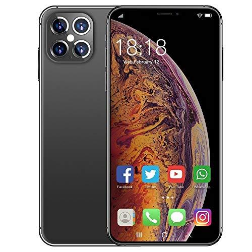 WOF Cellulare: smartphone i12 PRO senza SIM, doppia SIM da 6,1 pollici a schermo intero, batteria da 4800 mAh, doppia fotocamera da 16 MP + 32 MP, GPS, Face ID, ricarica rapida Telefono cellulare sblo