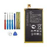 Upplus LIS1594ERPC Batterie de rechange compatible avec Sony Xperia Z5 compact E5803 E5823 avec kit d'outils