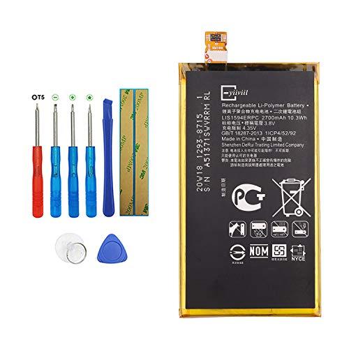 Vvsialeek LIS1594ERPC Batteria compatibile per Sony Xperia Z5 Compact E5803 E5823 con kit di attrezzi 2700 mAh