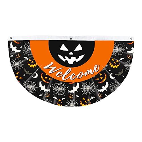 Decoración de Halloween Patio Home Tela Fan Print Bunting Ornamento Halloween Bunting,