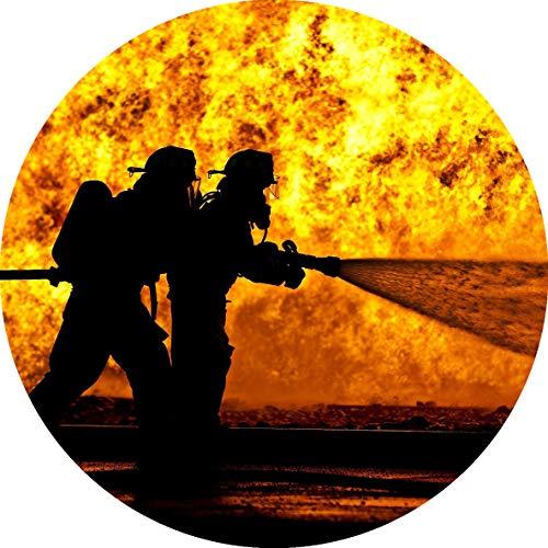 Essbarer Tortenaufleger Feuerwehr Flammen // Tortendekoration Feuerwehrmann // 20cm (Oblatenpapier)
