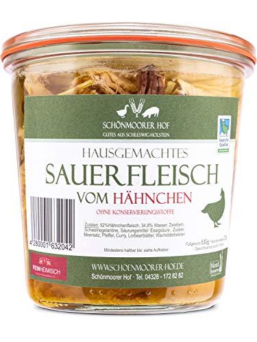 Sauerfleisch vom Hähnchen aus Bäuerlicher Freilandhaltung - vom Schönmoorer Hof aus Schleswig-Holstein