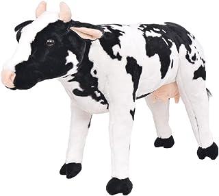 vidaXL Pluszowe zwierzątko stojąco krowa XXL dzieci pluszowa zabawka pluszowa maskotka