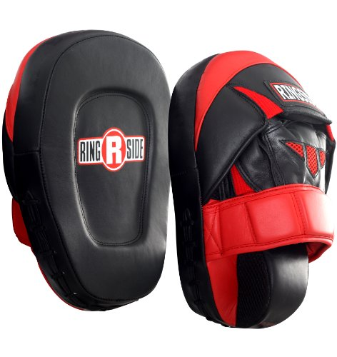 Ringside Pro Punch Mitts, Red/Black
