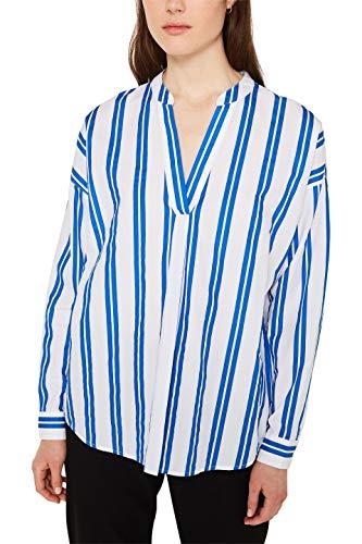 ESPRIT Damen 010EE1F310 Bluse, 410/BRIGHT Blue, (Herstellergröße: 36)
