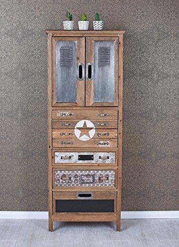 Hochkommode Fabrik Möbel Kommode Loft Metallkommode Apothekerschrank Vintage lof003 Palazzo Exklusiv