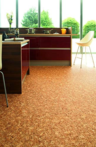 PVC Bodenbelag in Korkoptik (9,95€/m²), kleines Muster