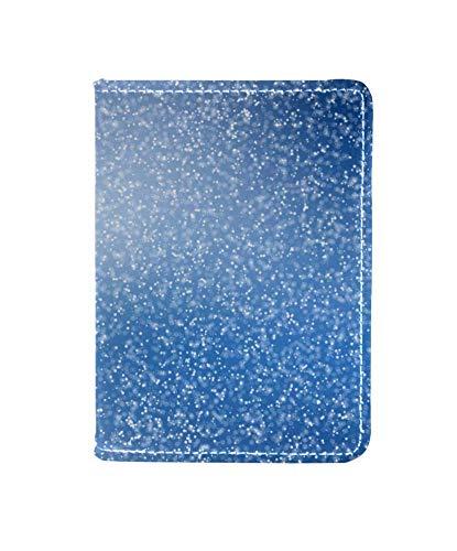 TIZORAX blauwe en witte vonken behang lederen paspoort houder Cover Travel Wallet Cover