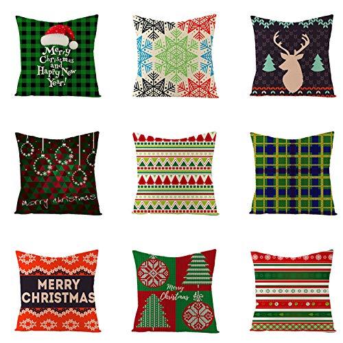 HINK Funda de cojín de decoración navideña para el hogar, Funda de Almohada Familiar sobrevivida, Funda de...
