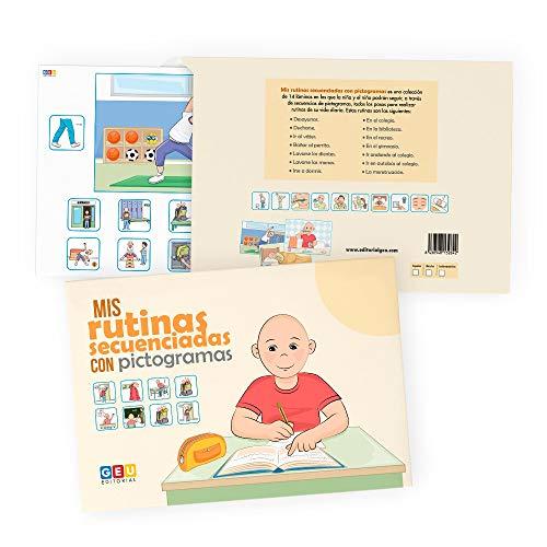 Aprendo mis Rutinas Diarias: Secuencias con pictogramas | Versión Sin Género | educación especial Infantil y pedagogía | Editorial Geu (Láminas Visuales)