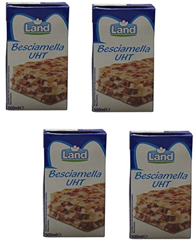 Land Italian Besciamella Béchamel Sauce 16.9 fl.oz 500ml, Pack of 4
