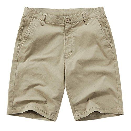 hezeyang Pantalones cortos casuales de cinco puntos para hombre