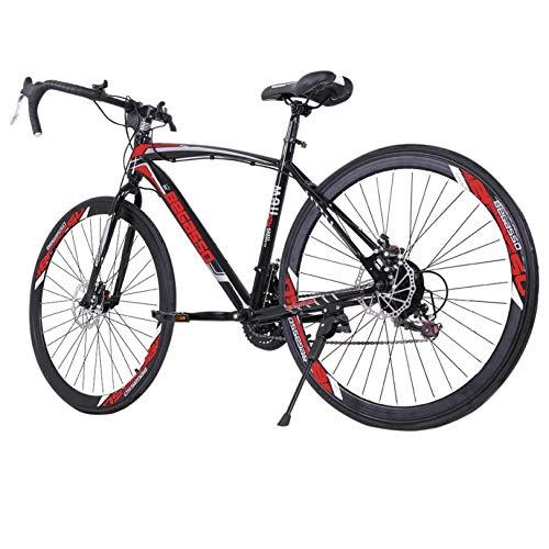 26 inch Road Bike Bicycles, Begasso Shimanos Aluminum Full Suspension Road Bike, 21 Speed Disc Brakes, 700c Tire, Mens/Womens Fashionable Bikes (Black)