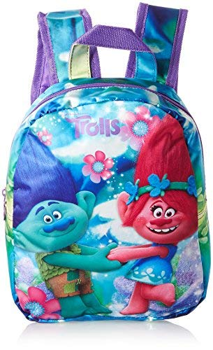 Trolls O94426 MC - Zaino Piccolo Coloring Trolls, Multicolore