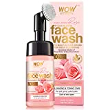 WOW Skin Science Himalayan Rose Foaming Face Wash with Built-in Brush - contains