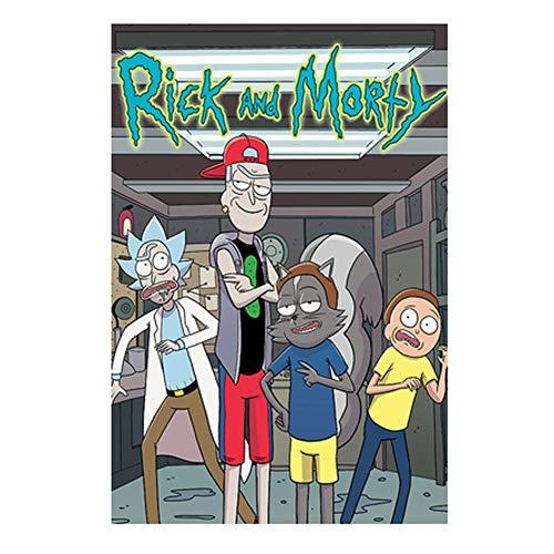 VAST Juegos de Puzzles, Rompecabezas Temas Conjuntos for la Familia, Juegos de Reto, 300 ~ 1000 Piezas Animado Rick y Morty Puzzles de Dibujos Animados 523 ( Color : C , Size : 500pc )