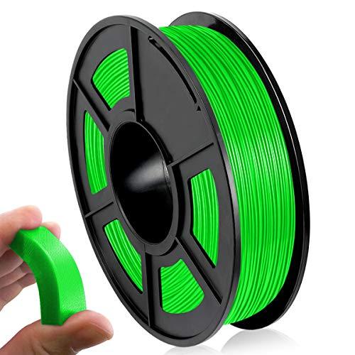 Filamento 3D TPU 1,75 mm, Filamento Flexible de TPU 0,5 kg para Impresión 3D, TPU Filament Verde