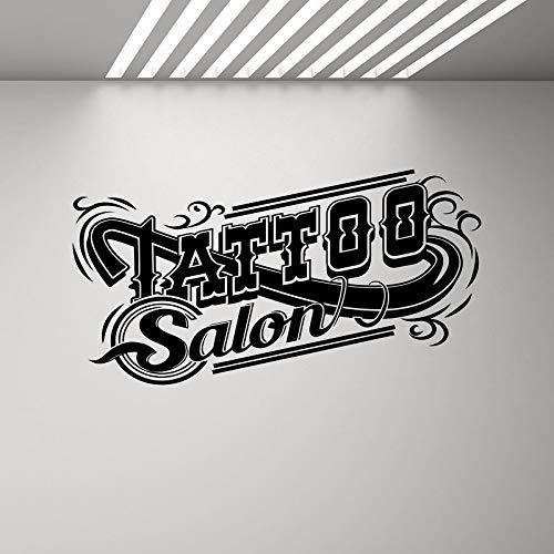 yuandp Tattoo Muurtattoo Tattoo Shop Logo Poster Studio Design deuren en ramen vinyl sticker muurschildering geschenk decoratie muurkunst 76x42cm Ab