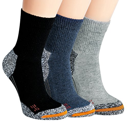 Vitasox 21042 Kinder Teenager Jungen Mädchen Funktions Socken mit Frottesohle Sportsocken Funktionssocken einfarbig 3er Pack 39/42