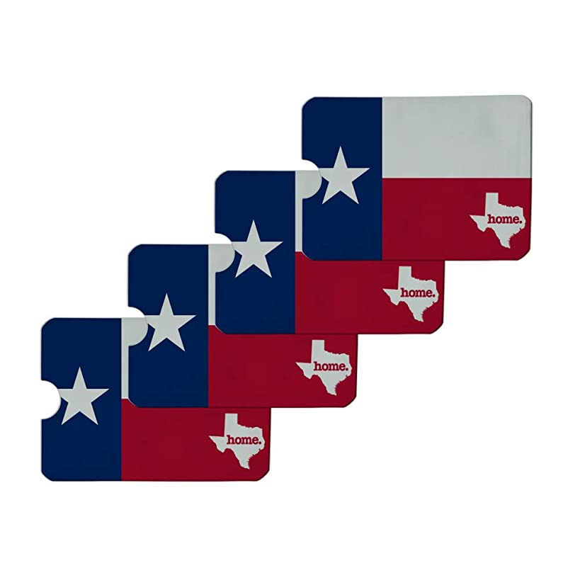 Texas TX Home State Flag Officially Licensed Credit Card RFID Blocker Holder Protector Wallet Purse Sleeves Set of 4