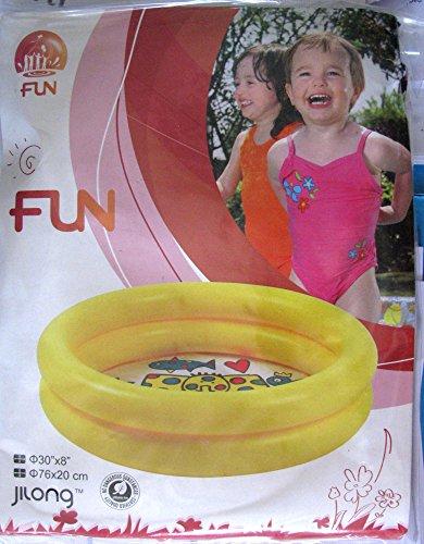 Idea Estate: Piscina tonda per gioco bimbi mare spiaggia giardino con fondo decorato; cm 76*20 a due...