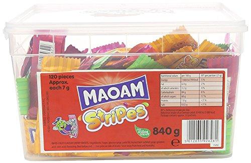 Maoam Stripes - Frucht Geschmack Kaubonbon 120 Pott
