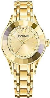 Swarovski Women's Stainless Steel Quartz Watch with Metal Strap, Gold, 17 (Model: 5188840)