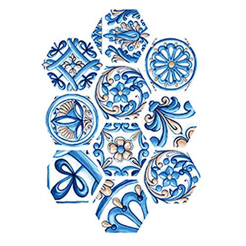 UKtrade 10 pegatinas decorativas autoadhesivas antideslizantes para piso de cocina, baño, cocina, suelo de pared