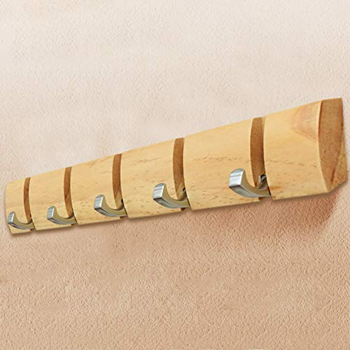 anruo Hanger hanger wandkapstok opvouwbaar houten haakrek