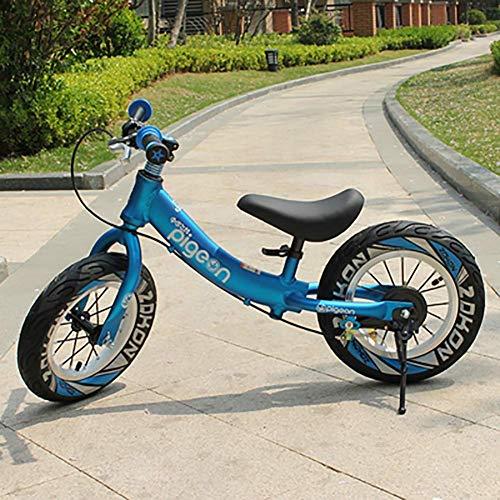 HKX Triciclo Present Trike Safety Bicicleta de Equilibrio Ligera para niños First Running con Frenos y con neumático de Goma, Bicicleta sin Pedales para niños de 2 a 6 años de Edad, niños y niñas