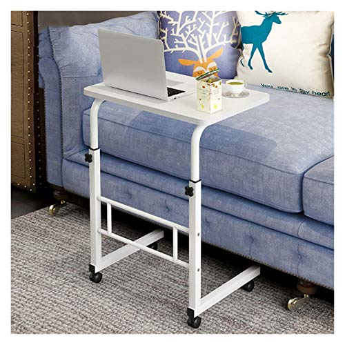Portable Overbed Chair Height Adjustable PC Overbed Table Great For Working On Your Laptop/tablet Foldable Laptop Stand FFFF (Color : Warm white, Size : 60 * 40cm)