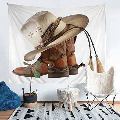 Tapiz de pared para colgar en la pared, diseño de botas, estilo rodote, estilo vintage, decoración de pared para dormitorio, sala de estar, extragrande de 152 x 238 cm